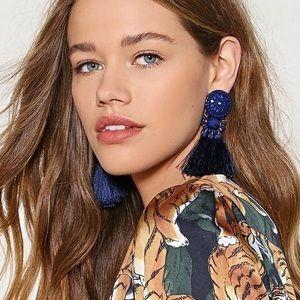 Nasty Gal Tassel Statement Earrings
